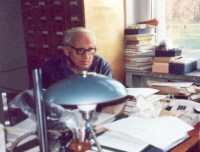 A. K. Skvortsov in his office (Main Botanic Garden, Moscow)